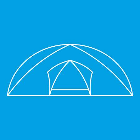 Tourist semicircular tent icon, outline style Illustration
