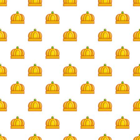 Imperial crown pattern in cartoon style. Seamless pattern vector illustration