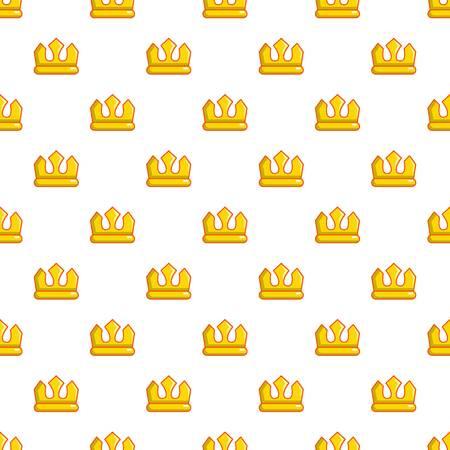 Viscount crown pattern in cartoon style. Seamless pattern vector illustration
