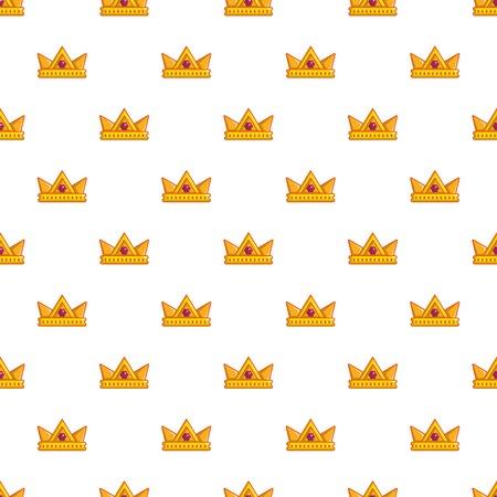 Baronet crown pattern in cartoon style. Seamless pattern vector illustration