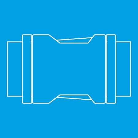 Locked black plastic buckle on strap icon blue outline style isolated vector illustration. Thin line sign