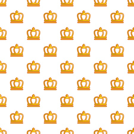 King crown pattern in cartoon style. Seamless pattern vector illustration