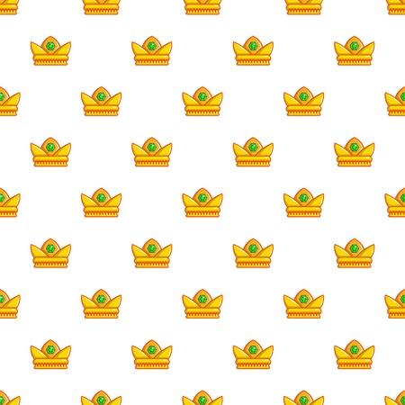 Baroness crown pattern in cartoon style. Seamless pattern vector illustration