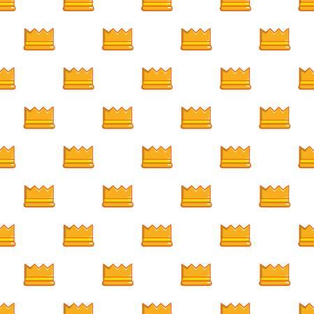 Knight crown pattern in cartoon style. Seamless pattern vector illustration