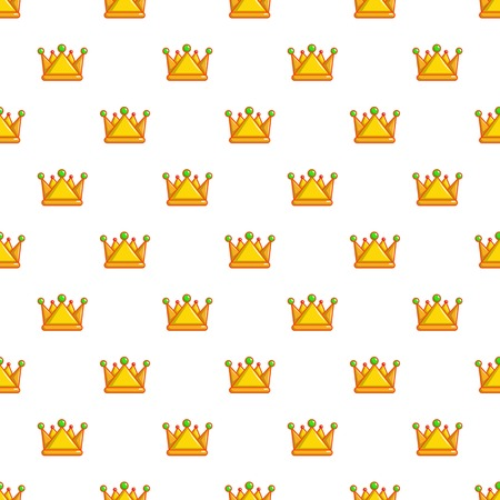 Royal crown pattern in cartoon style. Seamless pattern vector illustration