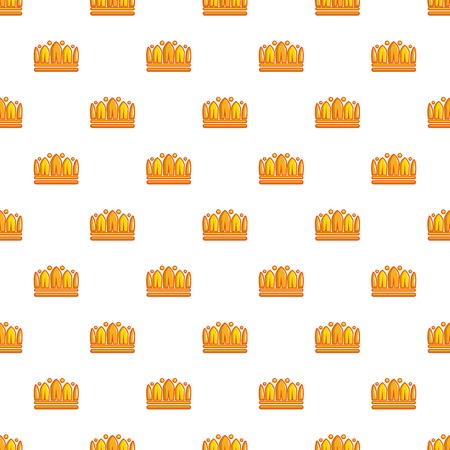 Earl crown pattern in cartoon style. Seamless pattern vector illustration