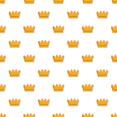 Baron crown pattern in cartoon style. Seamless pattern vector illustration Illustration
