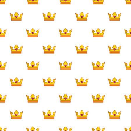 Milady crown pattern in cartoon style. Seamless pattern vector illustration