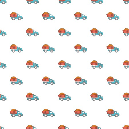 Heavy construction tipper pattern in cartoon style. Seamless pattern vector illustration Illustration