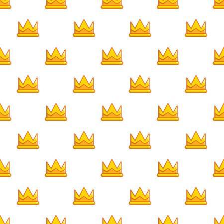 Son of king crown pattern in cartoon style. Seamless pattern vector illustration Illustration