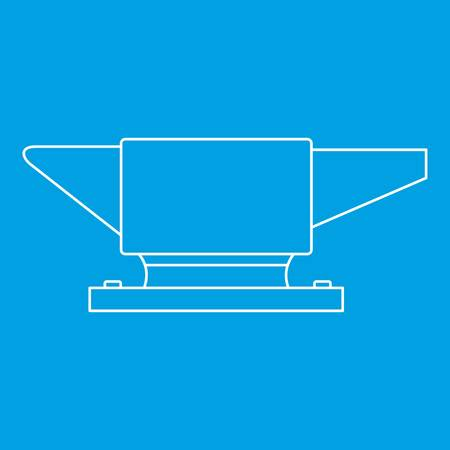Anvil icon blue outline style isolated vector illustration. Thin line sign Illustration