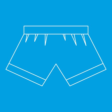 Boxer briefs icon blue outline style isolated vector illustration. Thin line sign Illustration