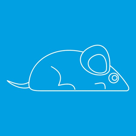 Mouse icon blue outline style isolated vector illustration. Thin line sign Illustration
