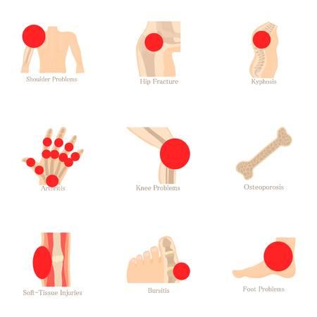 Les icônes de connaissances anatomiques sont définies. Ensemble de 9 icônes vectorielles de vecteur anatomique pour le web isolé sur fond blanc Banque d'images - 83747447