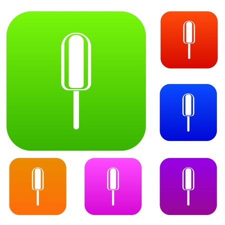 Ice Cream set icon in different colors isolated vector illustration. Premium collection Illustration