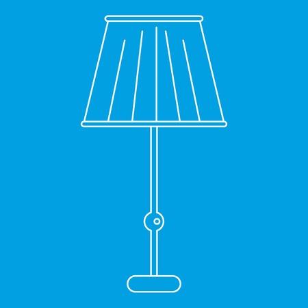 Vloerlamp pictogram, overzichtstijl