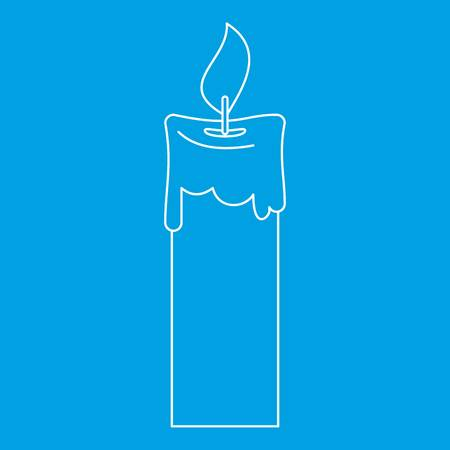 waxen: Candle icon, outline style Illustration