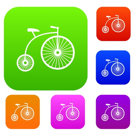 Penny-farthing set collection Illustration