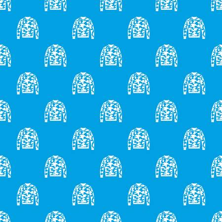 Camouflage jacket seamless pattern in blue color Illustration