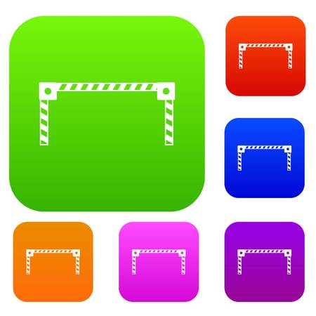 interdiction: Barrier set icon in different colors isolated vector illustration. Premium collection Illustration