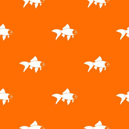 tang: Fish pattern repeat seamless in orange color for any design. Vector geometric illustration Illustration
