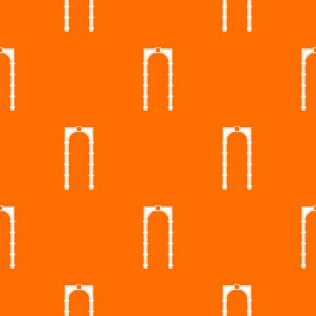 Arch pattern repeat seamless in orange color for any design. Vector geometric illustration Illustration