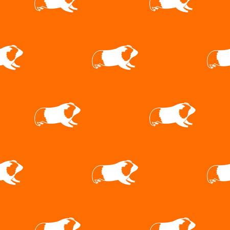 Hamster pattern repeat seamless in orange color for any design. Vector geometric illustration