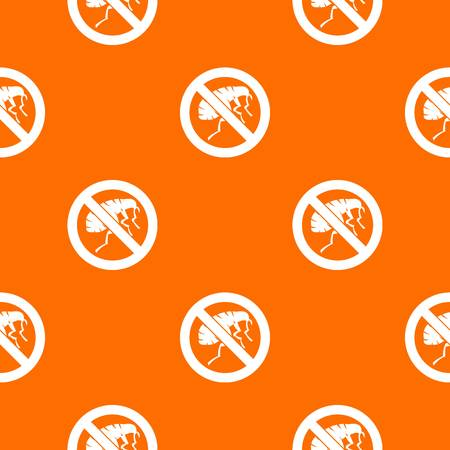 malaria: Etching insect pattern repeat seamless in orange color for any design. Vector geometric illustration Illustration