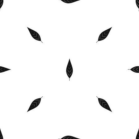 Leaf of willow pattern seamless black Illustration