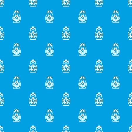 Matriochka transparente motif bleu Banque d'images - 83888073