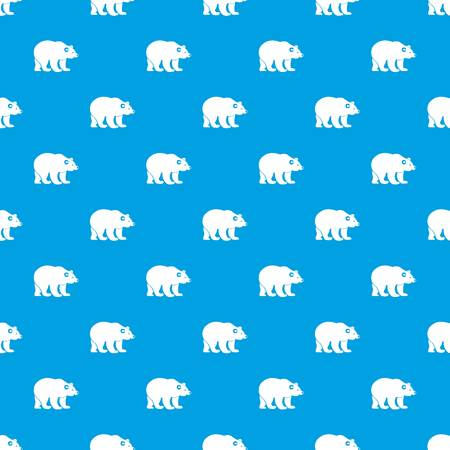 Bear pattern repeat seamless in blue color for any design. Vector geometric illustration Illustration