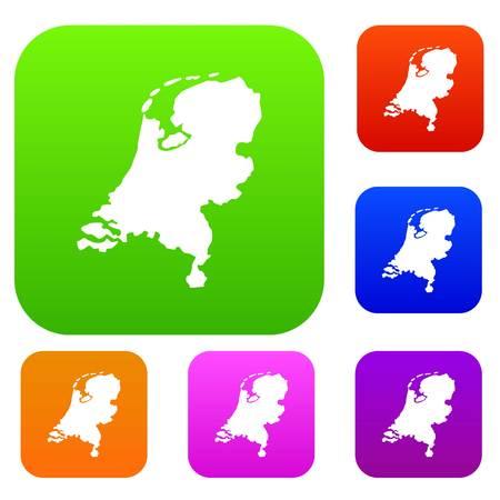 Holland kaartenset collectie Stock Illustratie