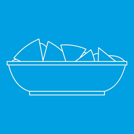 chips and salsa: Nachos chips icon, outline style Illustration