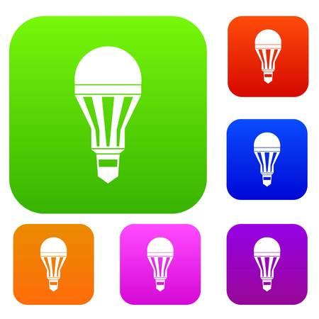 Led bulb set collection Illustration