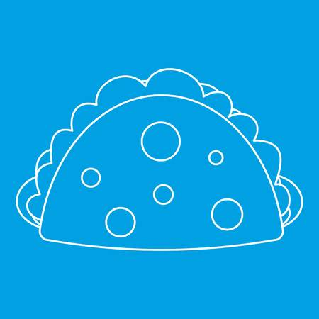 Meat pie icon, outline style
