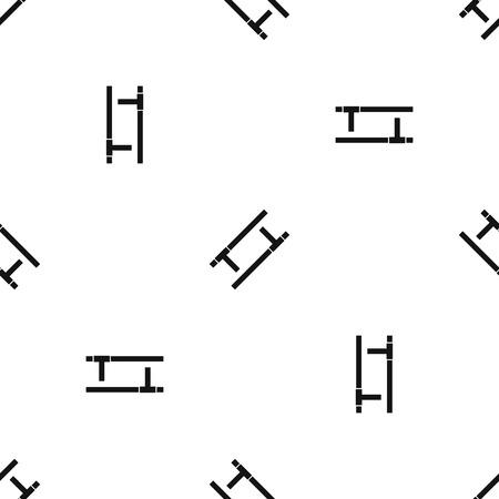 トンファー パターン シームレス ブラック