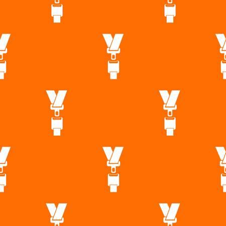 cinturon seguridad: El patrón de cinturón de seguridad se repite sin problemas en color naranja para cualquier diseño. Ilustración geométrica del vector
