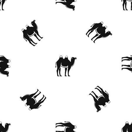 Camel pattern seamless black Illustration