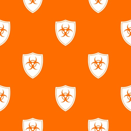 Shield with a biohazard sign pattern seamless Stock Vector - 83889194