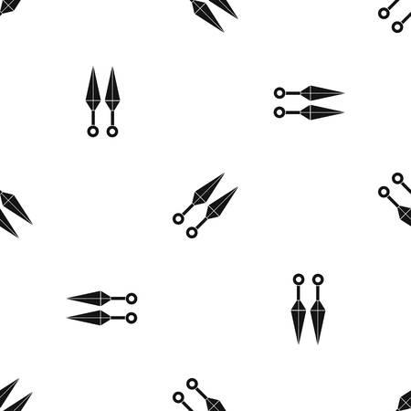 ninja tool: Ninja weapon kunai pattern seamless black
