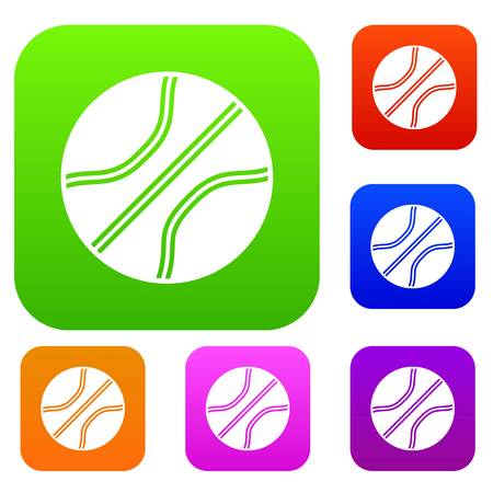 Basketball ball set icon in different colors isolated vector illustration. Premium collection 向量圖像