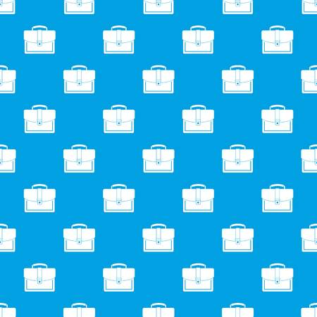 case: Business briefcase pattern repeat seamless in blue color for any design. Vector geometric illustration Illustration