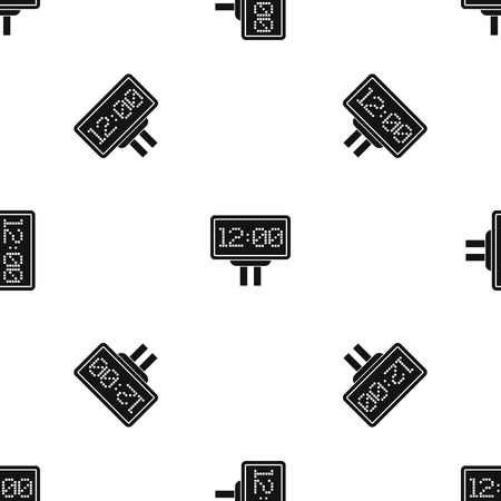 Scoreboard pattern repeat seamless in black color for any design. Vector geometric illustration