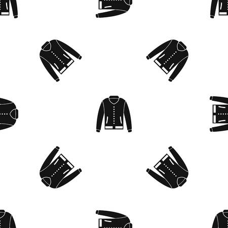 sleeve: Jacket pattern seamless black Illustration