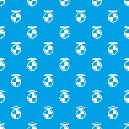 Shadow kit pattern repeat seamless in blue color for any design. Vector geometric illustration