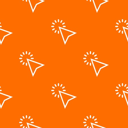 Click pattern repeat seamless in orange color for any design. Vector geometric illustration Illustration