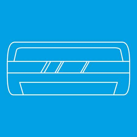 Modern air conditioner icon blue outline style isolated vector illustration. Thin line sign Illustration