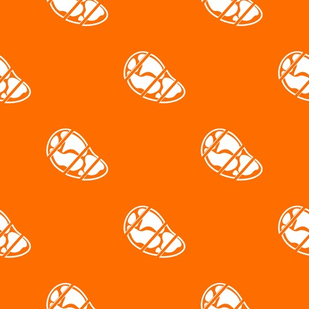 Steak pattern repeat seamless in orange color for any design. Vector geometric illustration