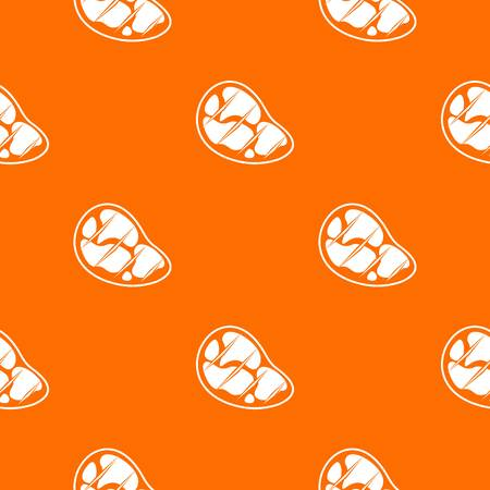 strip a cow: Steak pattern repeat seamless in orange color for any design. Vector geometric illustration