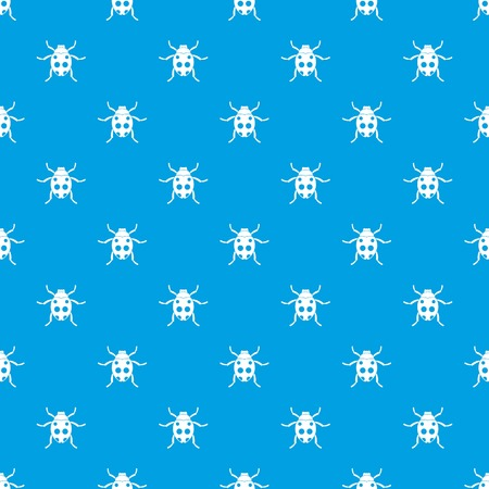 ladybird: Ladybug pattern repeat seamless in blue color for any design. Vector geometric illustration
